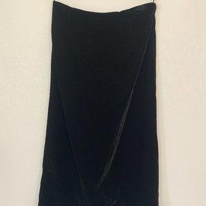 Rafaella Black Velvet Maxi Skirt Size 14